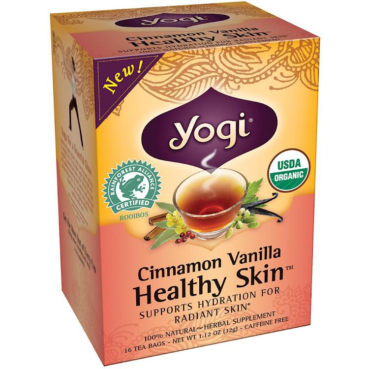 Yogi Cinnamon Vanilla Healthy Skin tea 16 tea bags by Supermodels Secrets