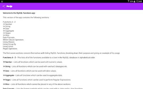 ... MySQL Functions Reference free- screenshot thumbnail ...