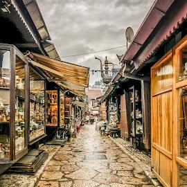 by Mario Horvat - City,  Street & Park  Street Scenes ( bosna, sky, street, bosnia, sarajevo, cloudy, iphone )