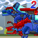 Tyranno+Tricera2-Combine! Dino Robot:Dinosaur Game icon