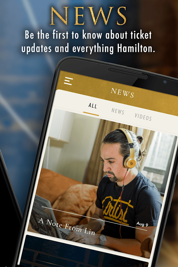 Hamilton — The Official App- screenshot
