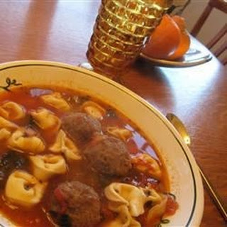 Italian Meatball and Cheese Tortellini Soup.