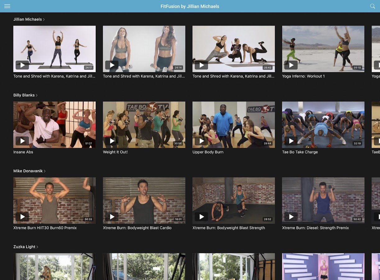 FitFusion by Jillian Michaels- screenshot