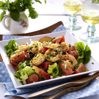 Tomato, Prawn and Nectarine Salad.