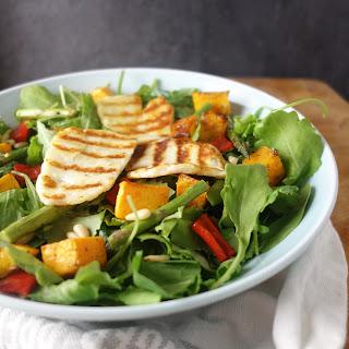 Warm Halloumi Butternut Squash Salad.