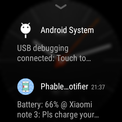 Phablet Battery Notifier- screenshot