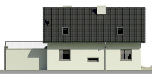Dom przy Alabastrowej 12 - Elewacja tylna