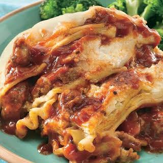 Slow-Cooker Italian Sausage Lasagna.