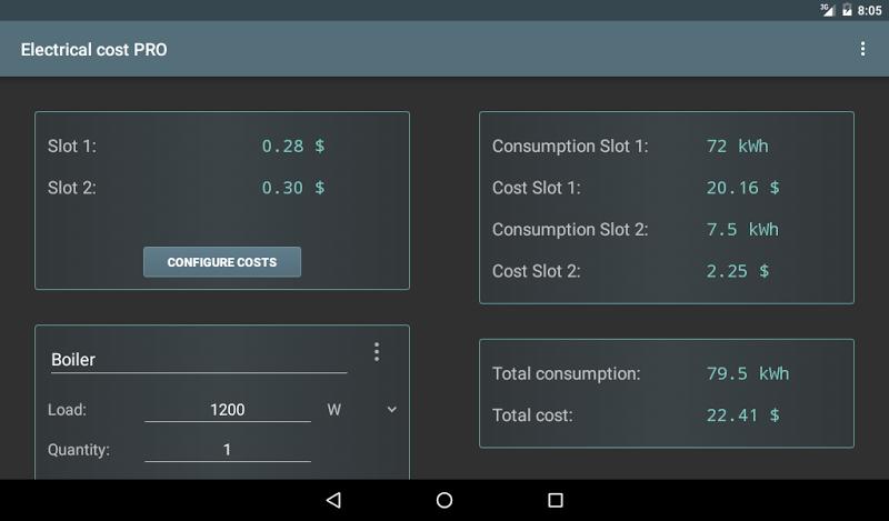 Electrical Cost Screenshot 6