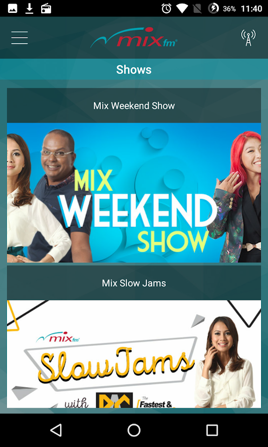 MIX fm- screenshot