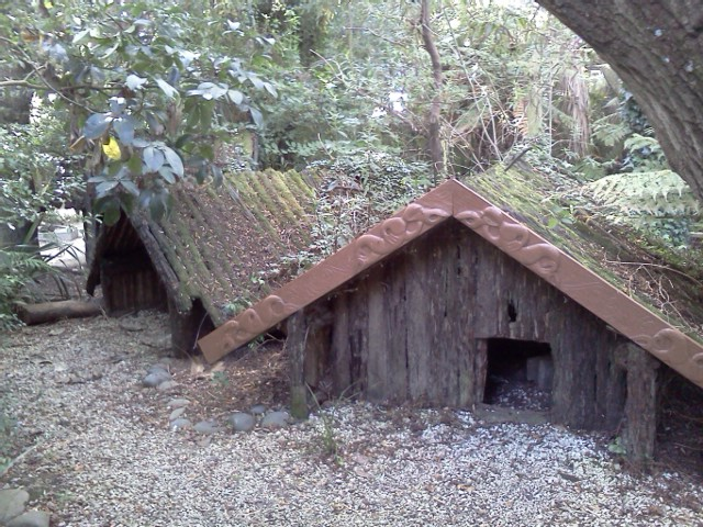 Photo: Maori built houses like this to trap and capture birds during Pre- and early-European NZ