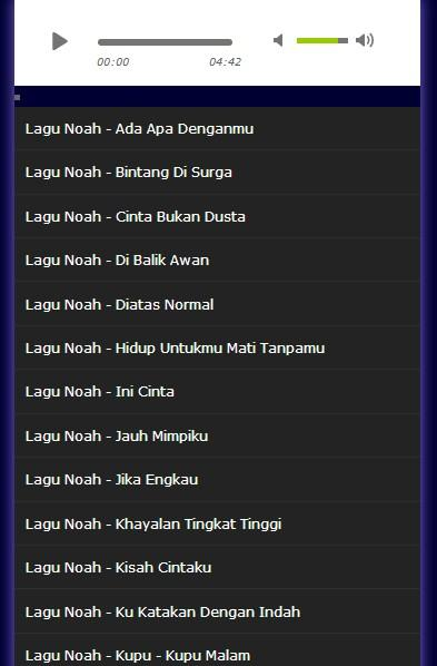 Kumpulan Lagu Lagu Noah Terpopuler Mp3 - Android Apps on Google Play