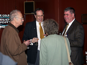 Photo: Paul Baker holds court with Don Weekes and the Kerrs