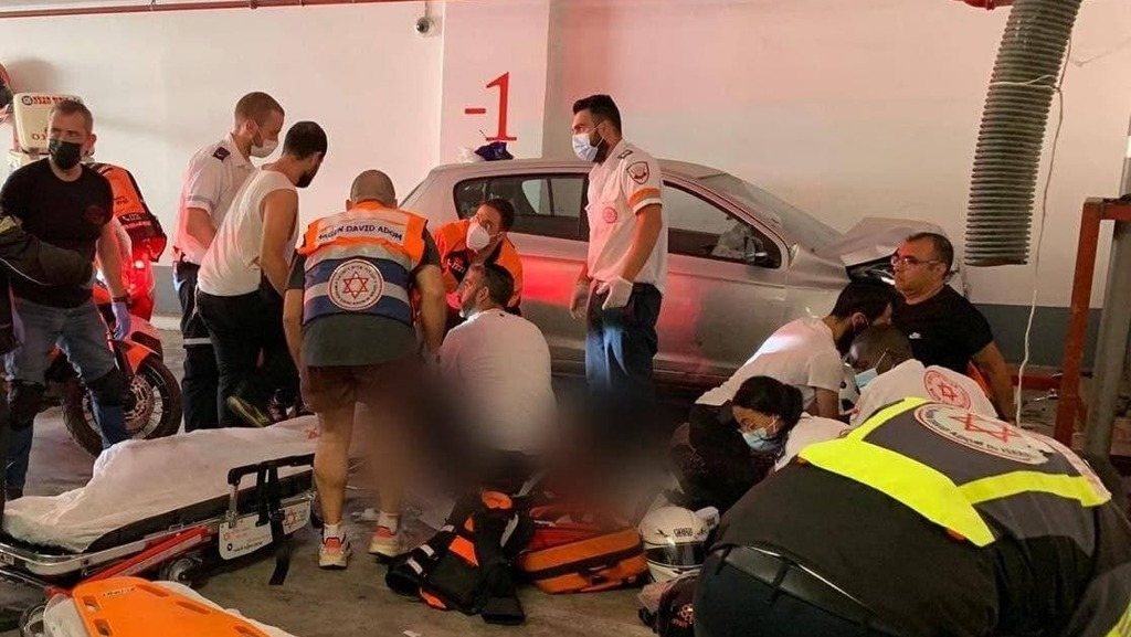 Documentation from the scene of the accident in Holon
