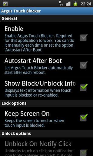 Touch Blocker / Disable Touch 2.2 screenshots 1
