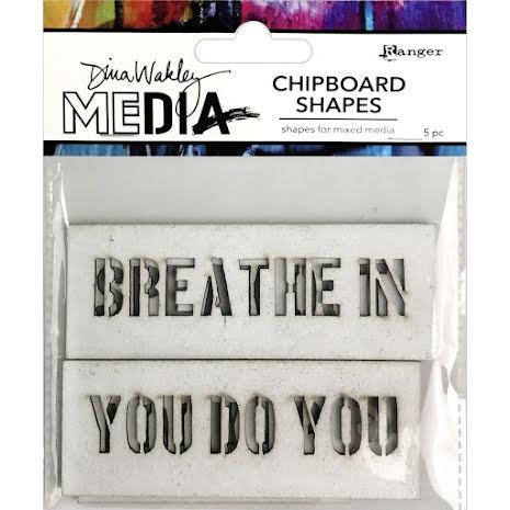 Dina Wakley Media Chipboard Shapes - Speak Out