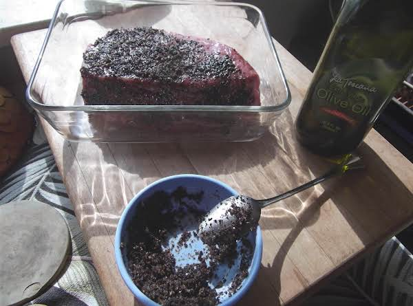 Coffee-pepper Crusted Rump Roast Recipe