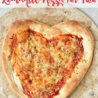Romantic Heart-Shaped Pizza for Two.