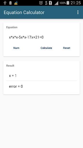 Algebra Equation Calculator 1.3.3 screenshots 5