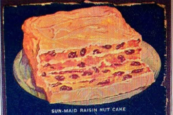 Sun-maid-raisin Nut Cake 1935 A Back Of Box Recipe