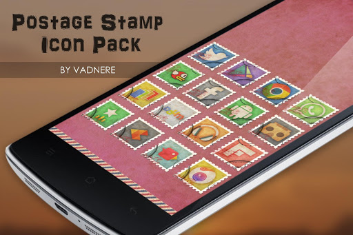 Postage Stamp Theme Icon Pack