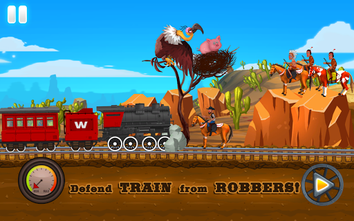 Western Train Driving Race screenshot 2