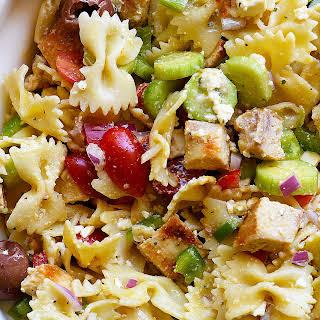 Greek Chicken Pasta Salad.