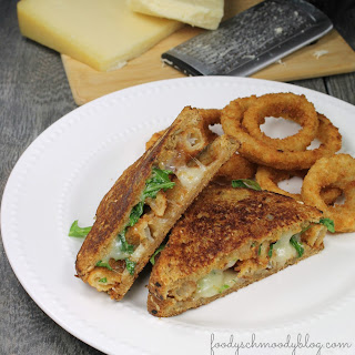 Onion Ring Grilled Cheese Sandwich.
