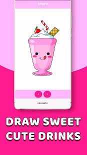 Download CDrawDrinks - Learn Draw cute Drinks, sweet, food For PC Windows and Mac apk screenshot 4