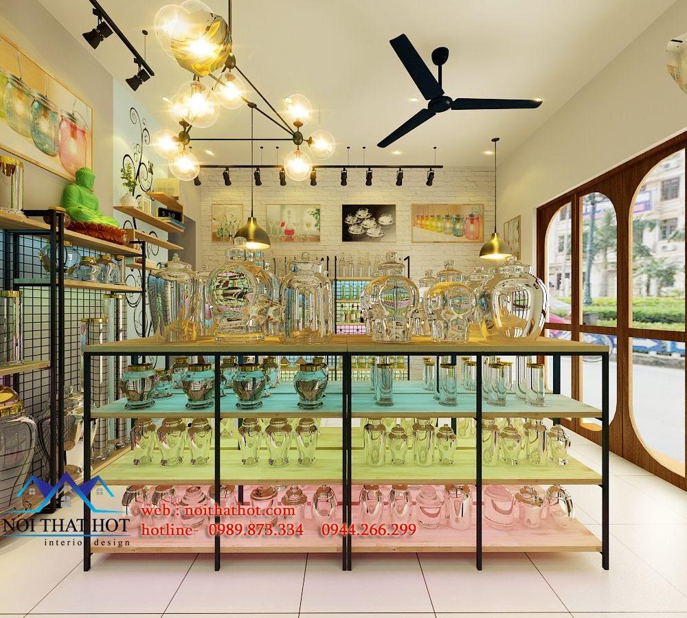 thiết kế cửa hàng thủy tinh, thiết kế cửa hàng pha lê
