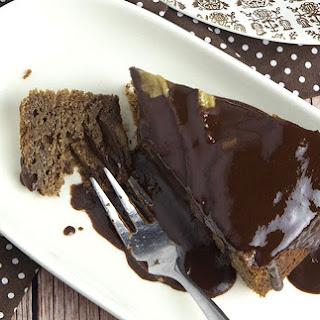 Whole Grain Banana Chocolate Cake With Chocolate Syrup [Vegan]