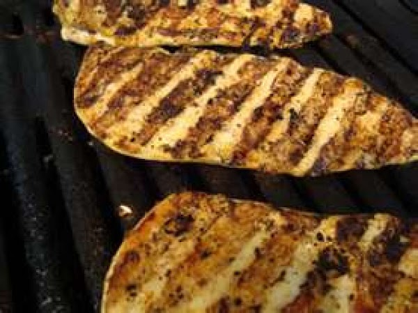 Remove chicken from marinade; discard marinade.  Grill, covered with grill lid, over medium...