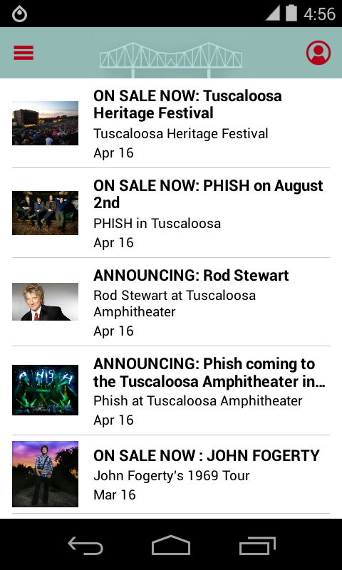 Tuscaloosa Amphitheater- screenshot