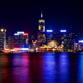 Hong Kong Island by Samson Calma - Buildings & Architecture Other Exteriors ( hong kong, cbd, convention, causeway, nightshoot )