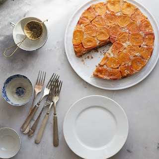 Apricot Coconut Upside Down Cake With Cardamom.