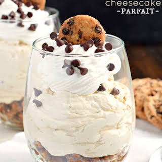 Chocolate Chip Cookie Cheesecake Parfait.