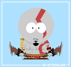 """Photo: You voted for your favorite videogame costume and this is the result: 44 % want Kratos from the """"God of War"""" games. So here you go! I included his blades, armor, pants, belt and tattoos in the SP-Studio.  You can still vote at www.sp-studio.de for the 2nd and 3rd place, which will be drawn by me during the next couple of days. Right now it looks like Peach and Dante will be chosen, but you have still time to change this."""