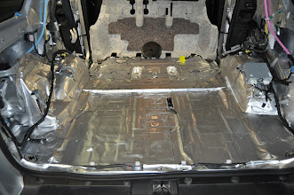 Photo: After the e-dead butyl deadener was down and ready for the poly closed cell foam