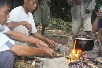 Photo: Cooking in the green trail camp-2 Days Green Trail Trek-Trekking in Luang Namtha, Laos