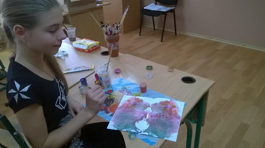 На занятті з арт-терапії