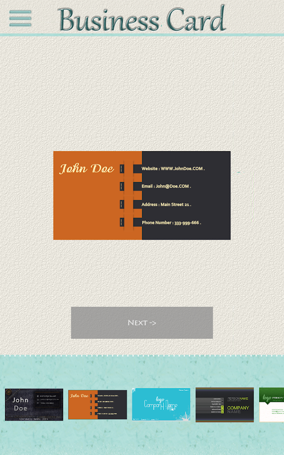 My business card android apps on google play for My business card