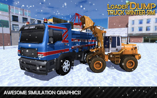 Loader Dump Truck Winter SIM