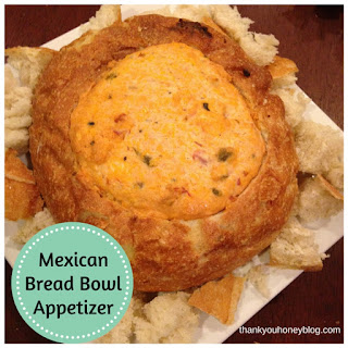 Mexican Bread Bowl Appetizer
