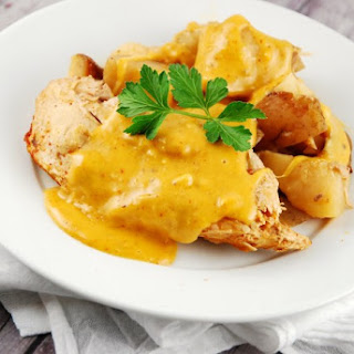 Crock Pot Cheesy Chicken and Potatoes.