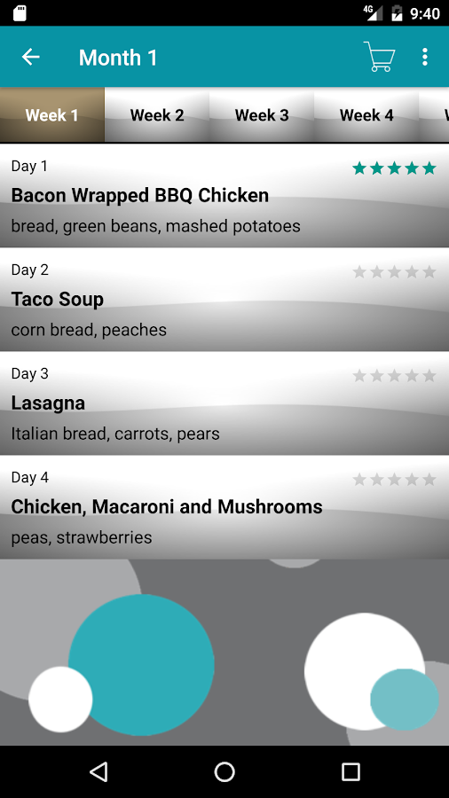 Slow Cooker Meal Planner- screenshot