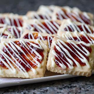 Buttery Shortbread Jam Glazed Bars