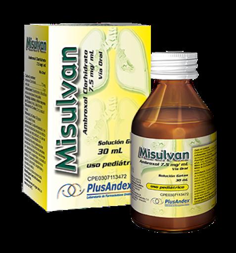 Ambroxol Misulvan Solucion Gotas 7,5mg/ml 30ml PlusAndex 7,5mg/ml  30ml