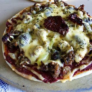 Mediterranean Naan Pizza.