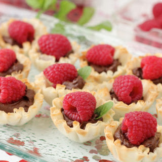 Chocolate and Raspberry Tartlets
