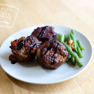 Paleo Balsamic Vegetable Mini Meatloaf.